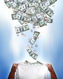 Chute d'argent Image libre de droits