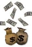 Chute d'argent comptant. Photographie stock libre de droits
