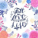 Chute dans l'amour avec votre vie Photographie stock libre de droits