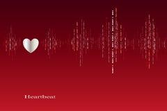 Chute dans la conception de cardiogramme de battements de coeur d'amour Images libres de droits