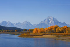 Chute dans Tetons Photo stock