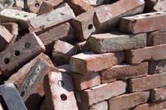 Chute de briques Photographie stock