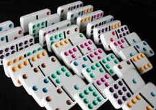 Chute de dominos Images libres de droits