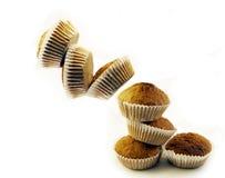 Chute de gâteaux de noix de coco Photo libre de droits