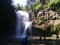 Chute de l'eau dans Bali Images stock
