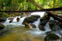 Chute de l'eau de la Thaïlande Images libres de droits