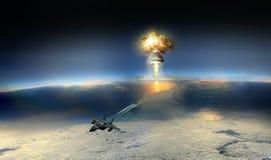 Chute de la bombe image libre de droits