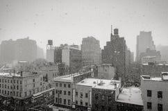 Chute de neige à New York City images stock
