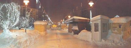 Chute de neige importante d'extrémité de la Roumanie Photographie stock libre de droits