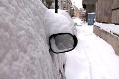 Chute de neige importante dans la ville Photos libres de droits