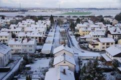 chute de neige importante en hiver Photos stock