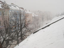 Heavy snow in central European Russia