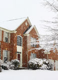 Chute de neige lourde Photo libre de droits