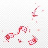 Chute de notes de livre britannique Factures aléatoires de GBP sur t illustration de vecteur