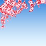 Chute de notes de livre britannique Factures malpropres de GBP sur le bl illustration stock