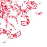 Chute de notes de livre britannique Factures malpropres de GBP sur le wh illustration libre de droits