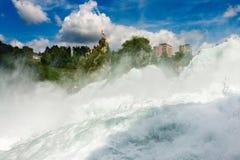 Chute de Rhein dans Schaffhause, Suisse Photos stock