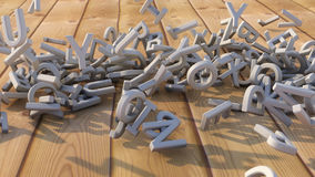 chute des lettres 3d Photographie stock libre de droits