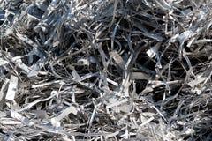 Chute en aluminium pour la réutilisation Photo libre de droits