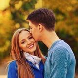 Chute en automne d'amour Portrait Images stock