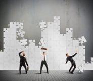 Chute et échec de puzzle Image libre de droits