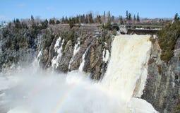 Chute montmorency waterfall Royalty Free Stock Image