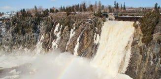 Chute montmorency waterfall Royalty Free Stock Photos