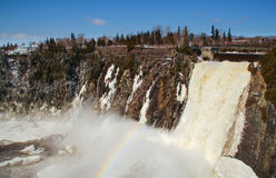 Chute montmorency waterfall Stock Images