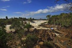 Chute ou Mekong de l'eau de Khonprapeng dans le champasak du sud de Photographie stock libre de droits