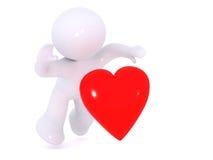 Chute pour l'amour Photo libre de droits