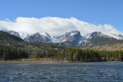 CHUTE Sprague Lake de RMNP 2014 Photo stock