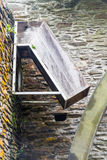 Chute for water wheel. Chute that fed old overshot water wheel Royalty Free Stock Image