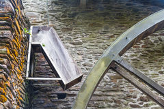 Chute for water wheel. Chute that fed old overshot water wheel Royalty Free Stock Images