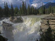 Chutes 3533 d'Athabasca Photos stock