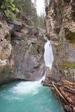 Chutes de Johnston Lower, Alberta Photographie stock
