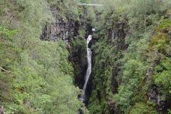 Chutes de Measach, gorge de Corrieshalloch Image stock