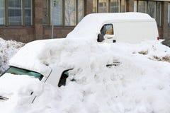 Chutes de neige à Helsinki (Finlande) Image libre de droits