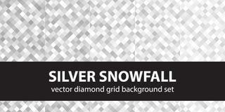 Chutes de neige argentées réglées de modèle de diamant Photos libres de droits