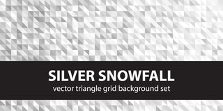 Chutes de neige argentées réglées de modèle de triangle Image libre de droits