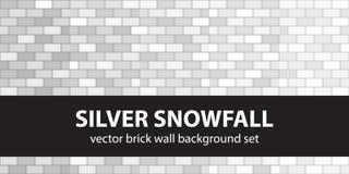 Chutes de neige argentées réglées de modèle de brique Photographie stock libre de droits