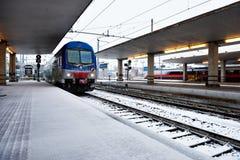Chutes de neige d'hiver à Florence II Image libre de droits