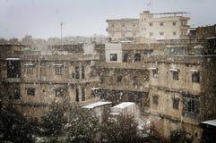 Chutes de neige de vintage Images libres de droits