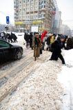 Chutes de neige extrêmes Photo libre de droits