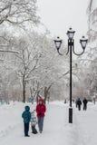 Chutes de neige fortes de février Photo stock