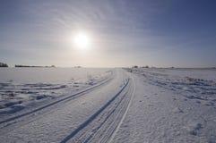 Chutes de neige fraîches en le Suffolk Images libres de droits