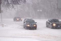 Chutes de neige lourdes du 8 mars 2008 à Toronto Photos libres de droits