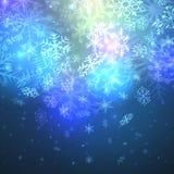 Chutes de neige magiques Images libres de droits