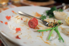 Chutes de nourriture Image libre de droits