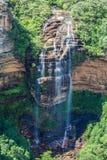 Chutes de Wentworth, montagnes bleues, Australie images libres de droits