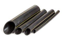Chutes des tuyaux en plastique d'éthylène Photo stock